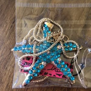 Betsey Johnson Jewelry - Betsey Johnson starfish long crystal necklace NWT